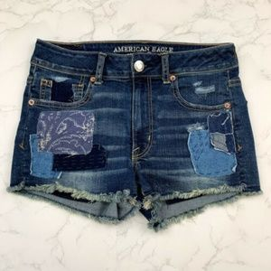 American Eagle Heavily Distressed Hi-Rise Shortie